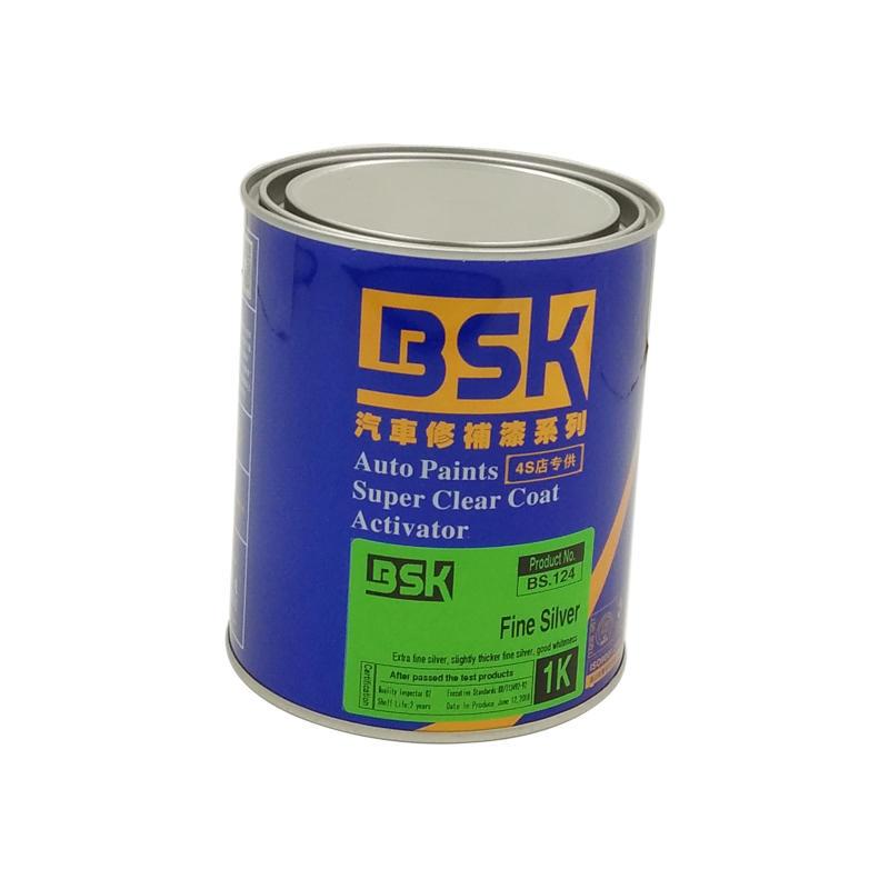Chemical Resistant Glitter 1K Auto Lacquer Fine Silver Color Metallic Car Paint For Automotive Refinishing