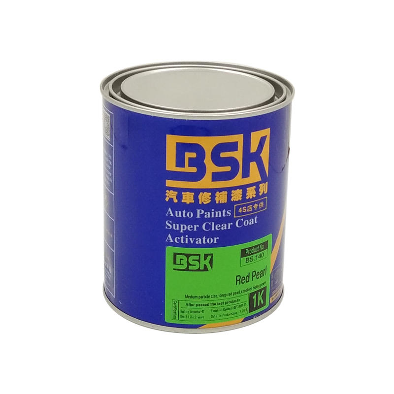 China Brands Paint Excellent Coverage Liquid Pearl Red Color 1K Auto Base Paint For Repairing