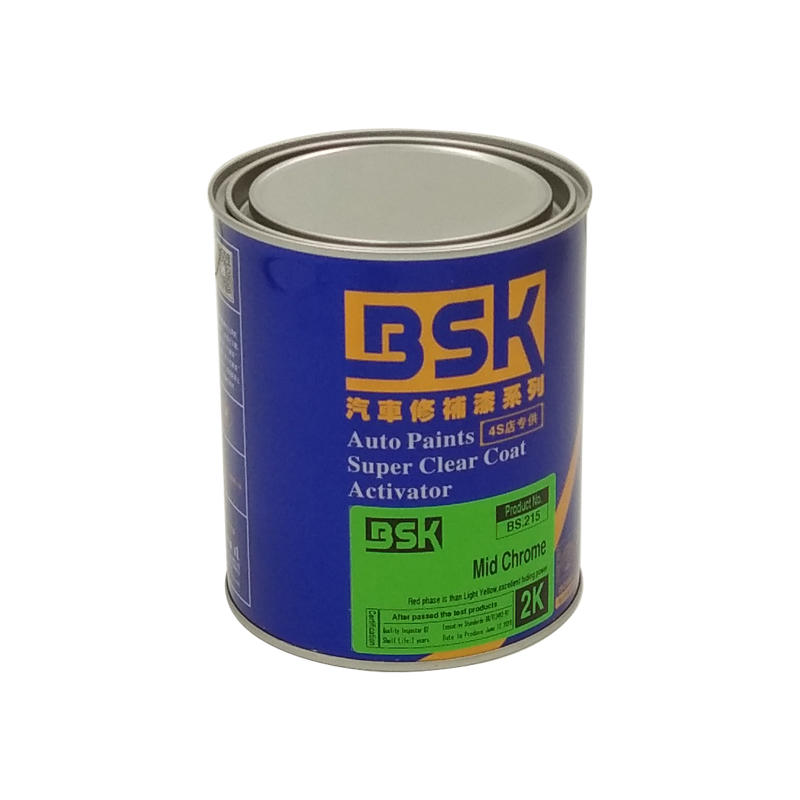 China Manufacturer 2K Acrylic Reflective Middle Yellow Color Car Base Paint