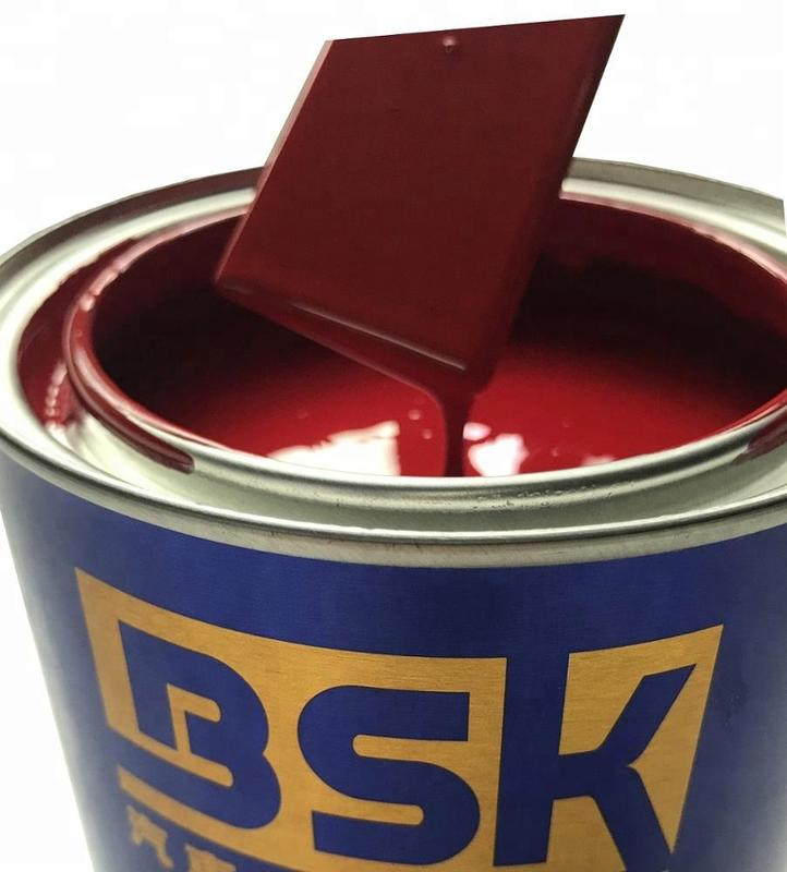 Car Paint China Supply Red Maroon Color Auto Repair 1K Base Paint