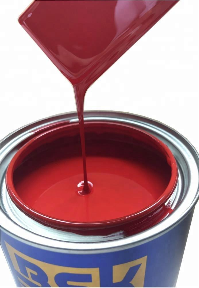 Popular China Brand High Gloss Mirror Effect 2K Bright Red Color Car Refinish Paint