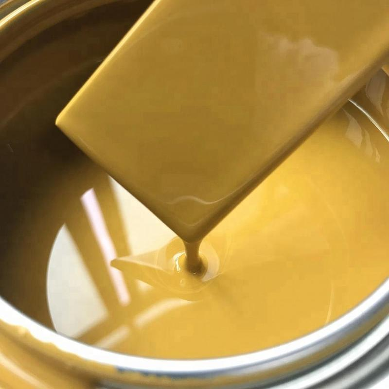 1K gold color chrome paints Strong Adhesion Earthy Yellow Chrome Color Metal Refinish Spray Paint