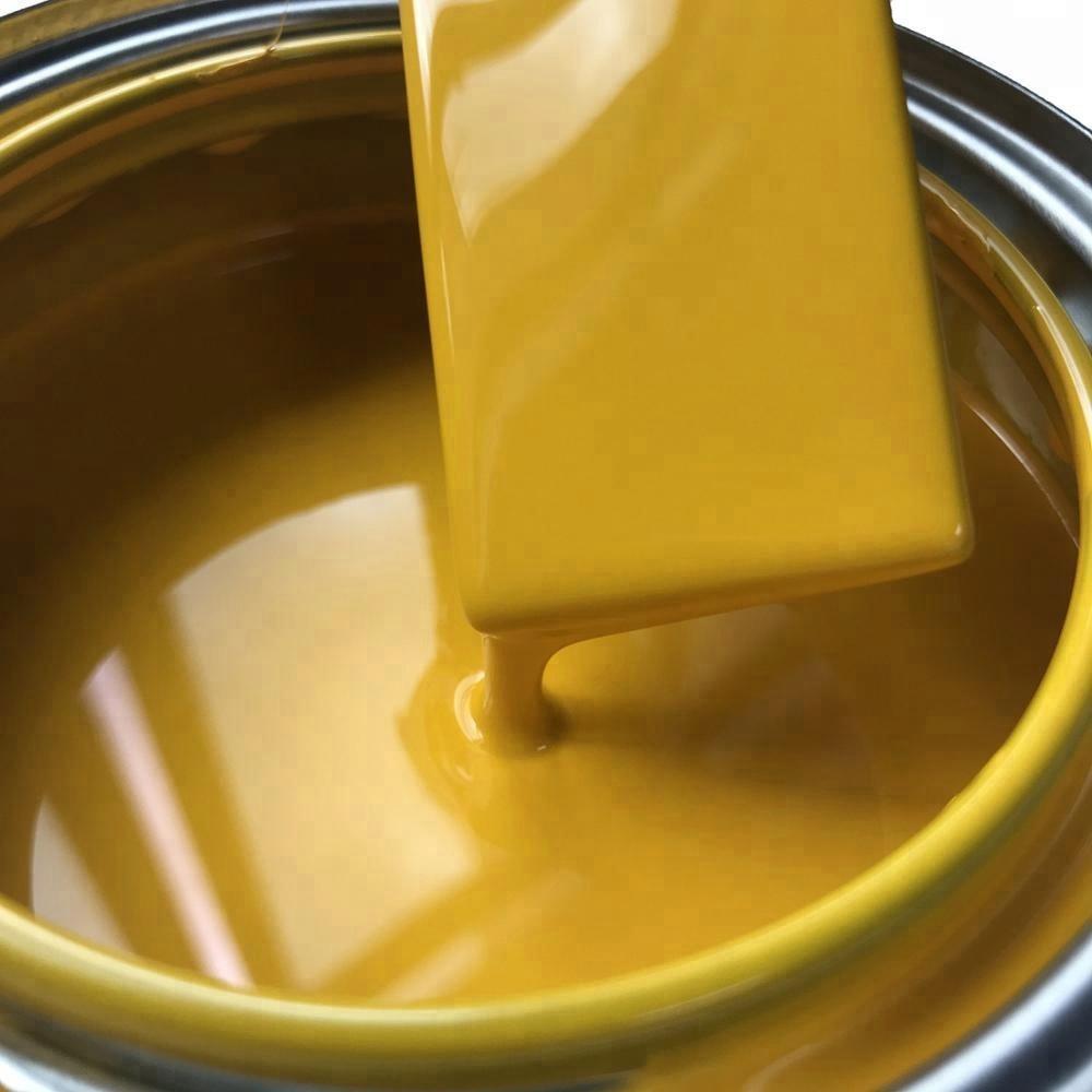 1K Anti Corrosion No Fading Custom Spray Method Lemon Middle Chrome Yellow Color Car Paint