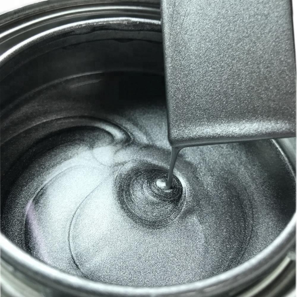 Anti Corrosion Rust Resistant 1K Metallic Flash Gray Silver Color Automotive Custom Paint