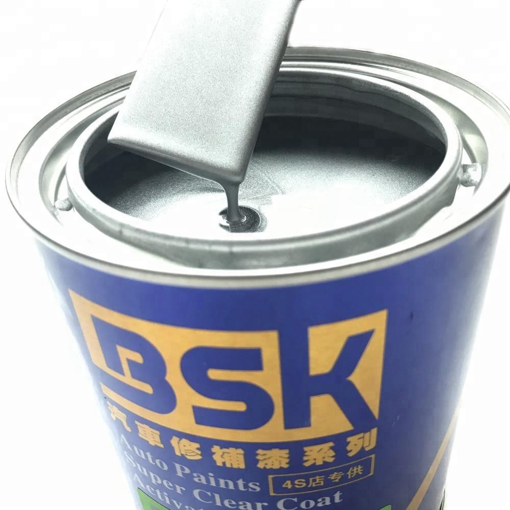 UV Resistant 1K Super Quality Glitter Metallic Twinkling Silver Gray Color Paint Colors Auto Body Refinish Top Paint