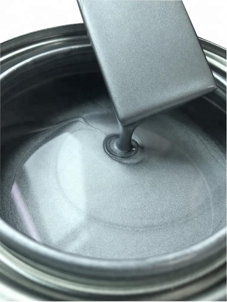 Good Coverage Fine Light Silver Gray Metallic Liquid Spray Car Base Paint For Automobile Or Vehicle Body Refinish