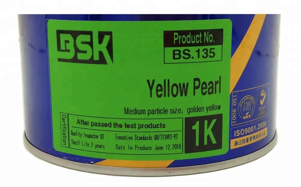 China Auto Paint Suppliers Long Lasting 1K Yellow Pearl Color Spray Car Chrome Coating For Refinishing
