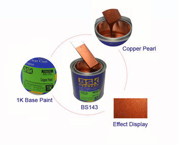 Anti-Corrision High Quality Complete Color Mixing System Automotive Copper Color Pearl Repair Chrome 1K Base Paint