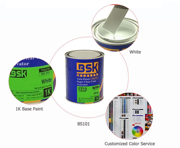 High Content Pearlescent Color Paint 1k White Pearl Base Paint For Car Refinish