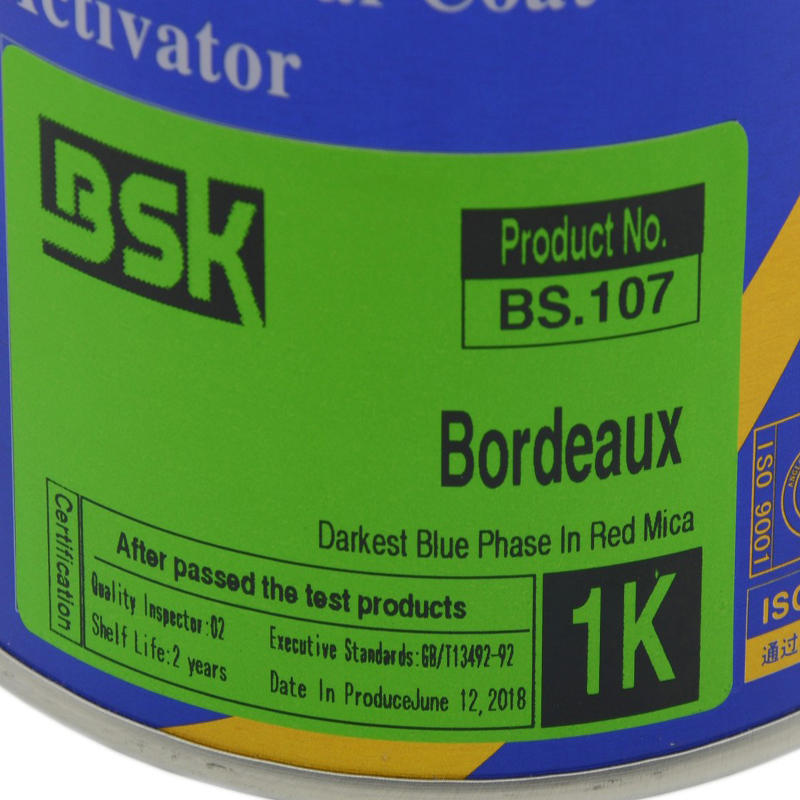 Hot Selling Complete Base Paint System Auto Paint Supplier 1K Color Coating Bordeaux For Car Protection