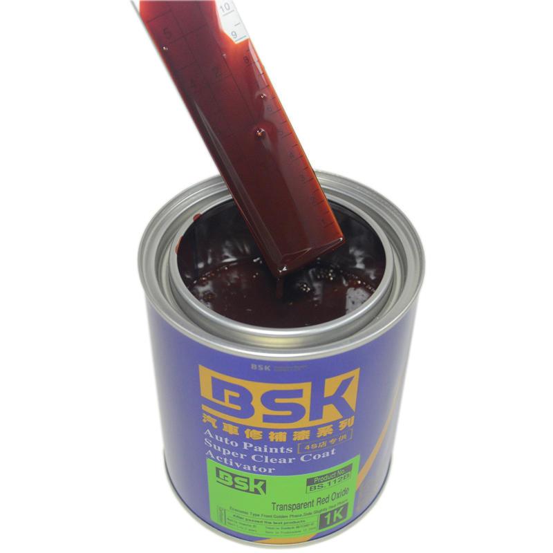 UV Resistant 1K Acrylic Free Sample Rust Resistant Solid Transparent Red Oxide Color Base Coating Metal Repair Car Paint