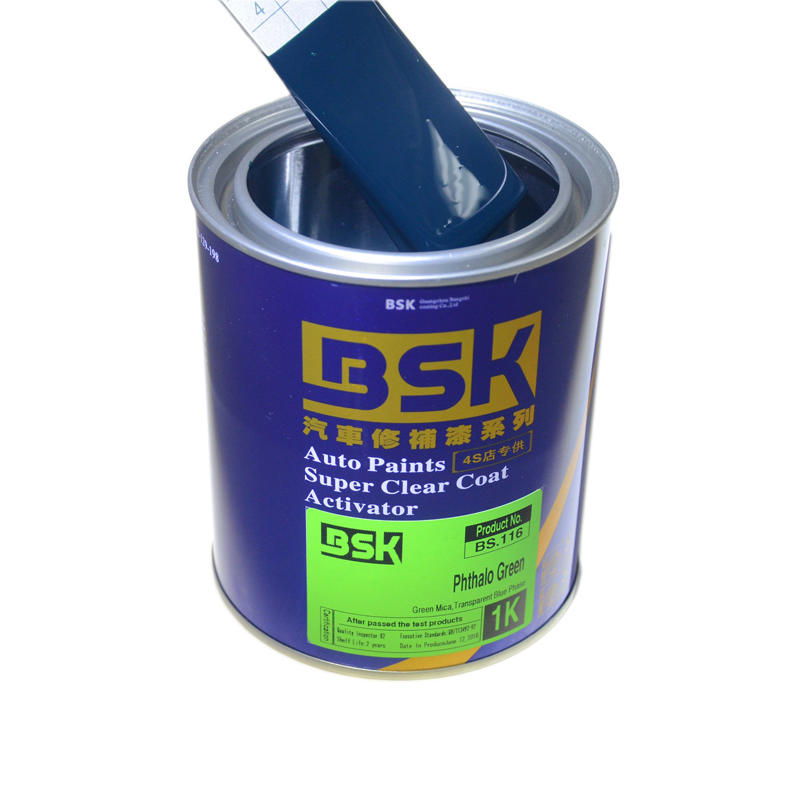 1K High Content Acrylic Liquid Chrome Verdant Blue With Green Solid Color Metallic Car Refinish base Paint