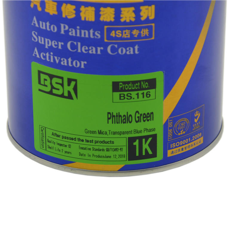 Guangdong Specialized Auto Paint Supplier UV Resistant Color Customization Service 1K Phthalo Green Paint for Car