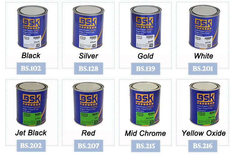 High Quality HS 1K Crystal White Pearl Base Paints For Car Refinishing