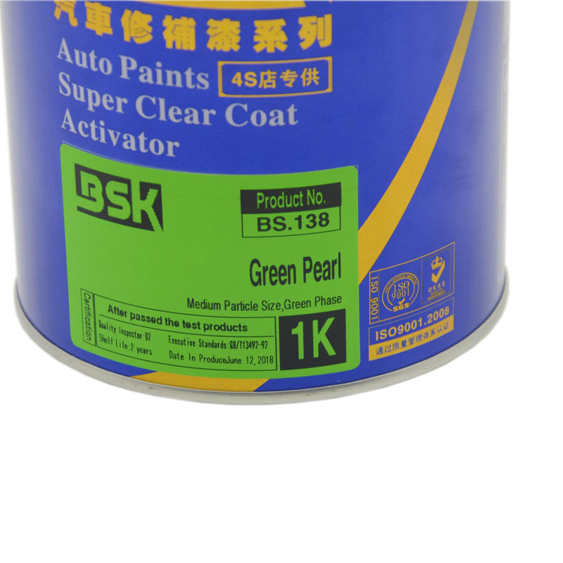 Top Selling Auto Body Repair Car Pearl Metallic Paint Colors Spray Method Acrylic 1K Green Pearl Base Paint For Auto Refinish
